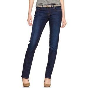 GAP Real Straight Dark Wash Stretch Denim Jeans